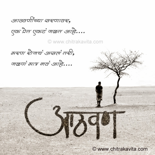 Aathvaninchya-Sarnavar Marathi Sad Greeting Card