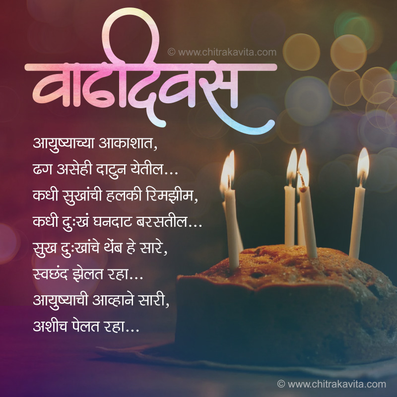 Keep-Smiling Marathi Birthday Greeting Card